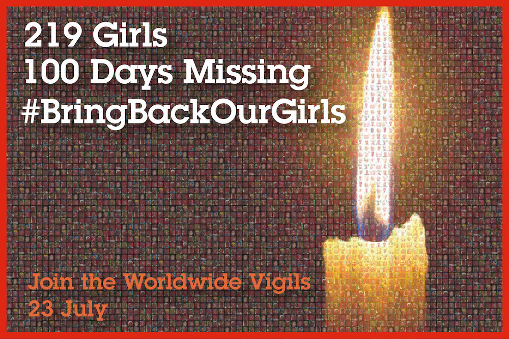 100 days vigils for Chibok girls
