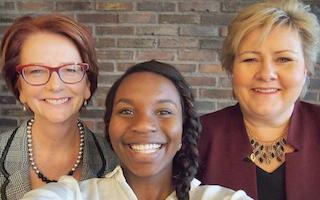 Global Youth Ambassador Hellen gets TWO prime ministers to sign #UpForSchool