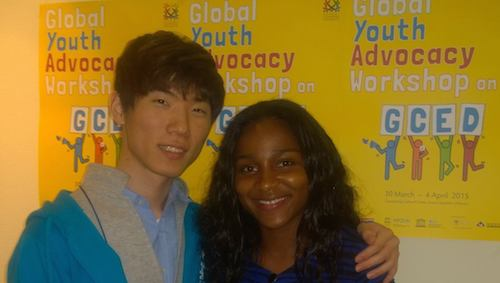 Sharing strategies at Global Youth Advocacy Workshop in Korea
