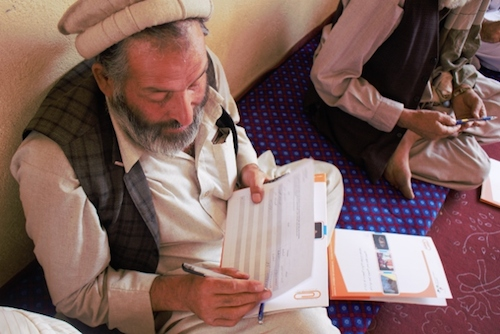Afghan village elders sign the #UpForSchool Petition