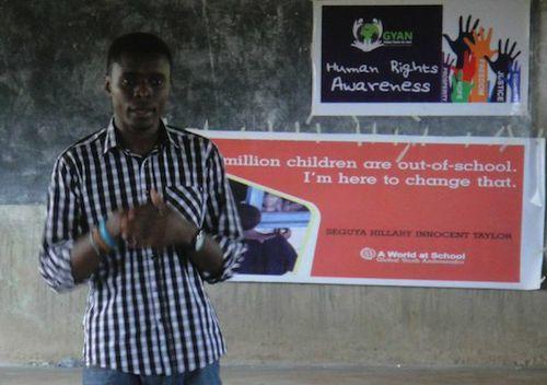 Taking the #UpForSchool message to schools in Uganda