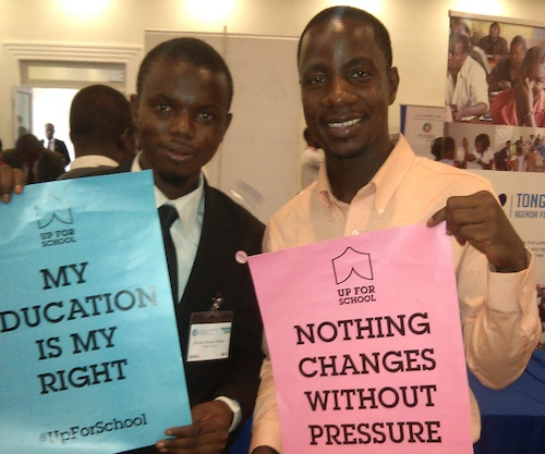 Spreading the #UpForSchool message at West Africa Regional Conference