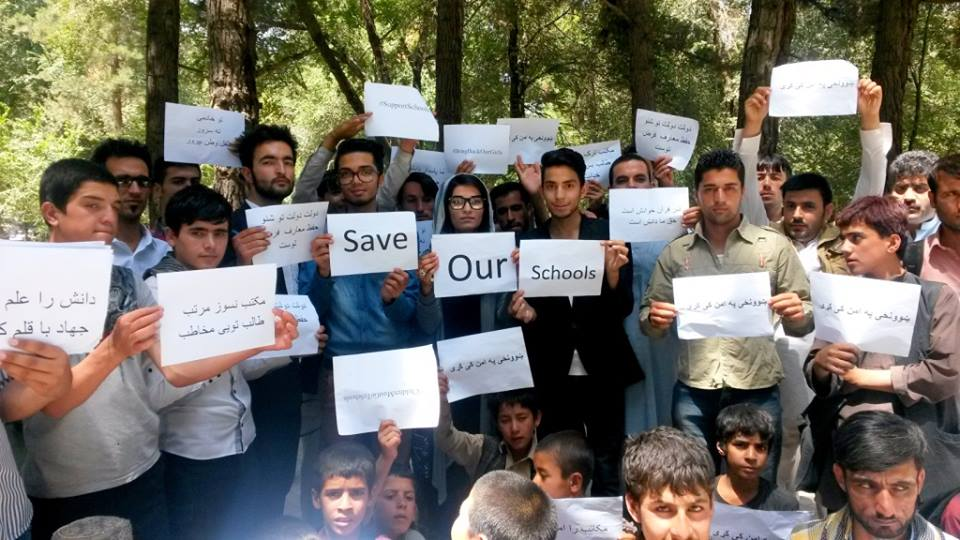 Afghan youth protest over ban on going to school