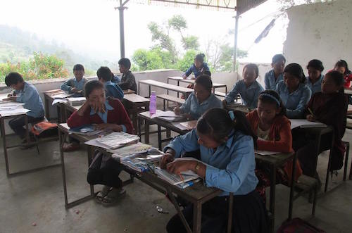 Six months after Nepal earthquake: school children suffer from fears and anxieties