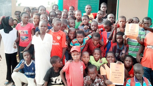 Teaching children in Senegal about deforestation and nature