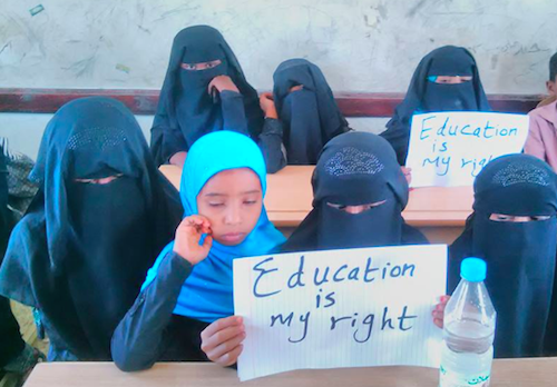 Campaigning in Yemen for girls' education and to end child marriage