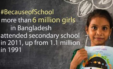 Share your story of how your life changed #BecauseOfSchool