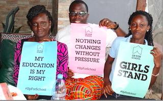 lLiberian youth ambassador Moses helps to collect 75,000 #UpForSchool signatures