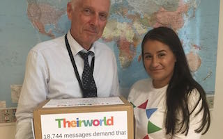 Don't break promise to Syrian children: Global Youth Ambassador delivers 18,000 messages