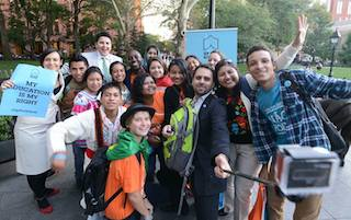 Global Youth Ambassadors pay tribute to Nobel Peace Prize winners Malala and Kailash