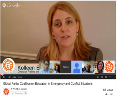 Reactions to Google Hangout: education in emergency and conflict situations