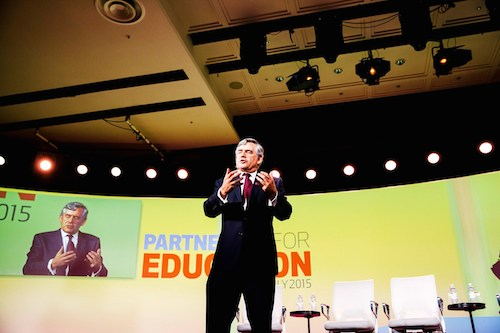 Oslo Education Summit: Gordon Brown demands emergency fund as out-of-school numbers rise