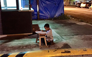 The heartbreaking picture that shines a light on education plight of millions of children