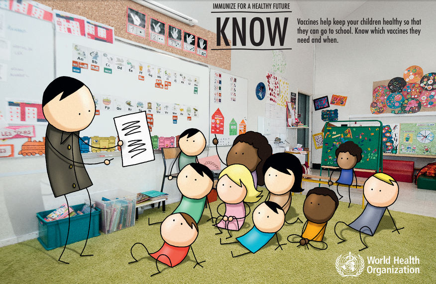 10 myths about vital vaccines that help children go to school