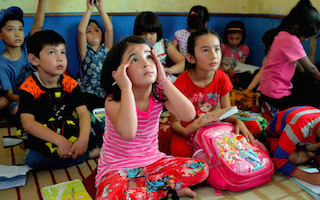School for refugee children, run by refugees in Indonesia