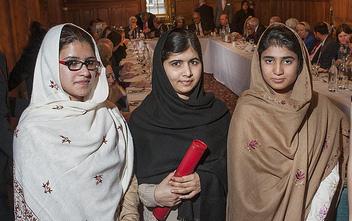 Malala's friends Shazia and Kainat honoured at awards ceremony