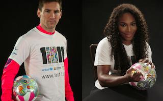 Lionel Messi and Serena Williams back 1 in 11 education campaign
