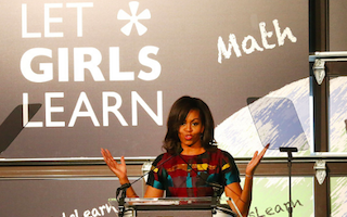Michelle Obama goes to Africa to promote girls' education