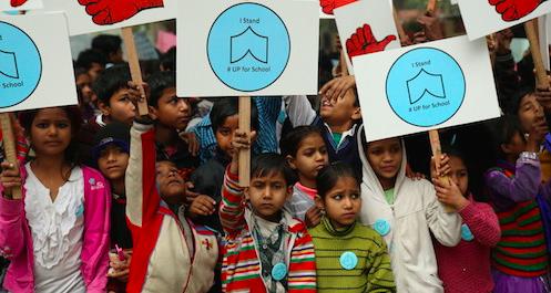 #UpForSchool Delhi rally