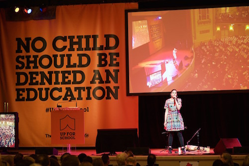 #UpForSchool Town Hall event with Amrit Kaur Lohia singing picture by Steve Gong
