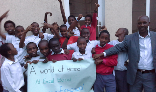 #UpForSchool event at Excel School in Rwanda