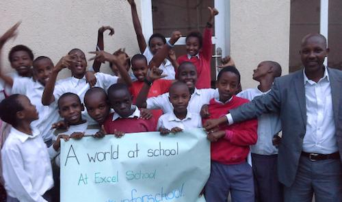 #UpForSchool event at Excel School in Rwanda