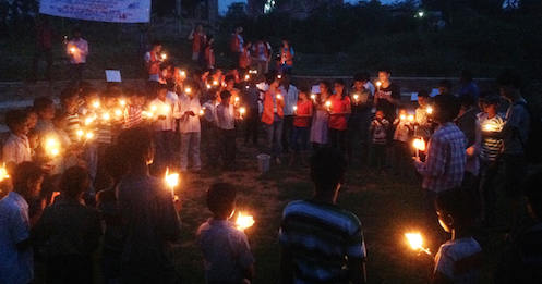 Bal Ashram children in India at Chibo girls vigil