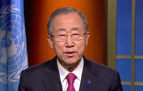 Ban Ki-moon video message #UpForSchool