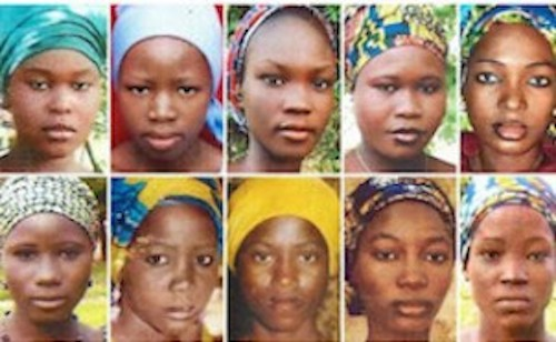 faces of some of the missing Chibok schoolgirls