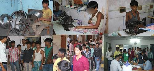Trafficked and bonded children rescued in India by Bachpan Bachao Andolan.jpg