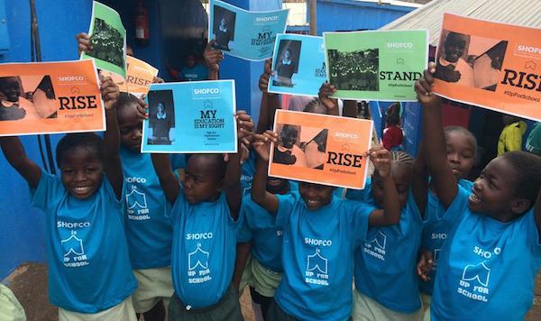 Children in Kibera, Kenya are #UpForSchool