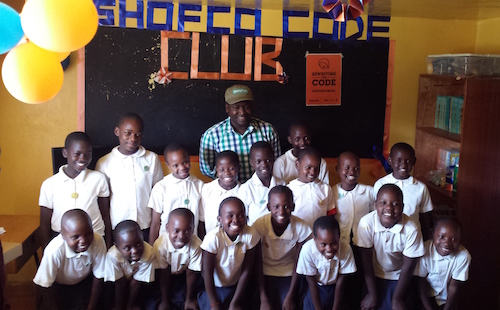 Code Clubs launch at Kibera School for Girls with SHOFCO