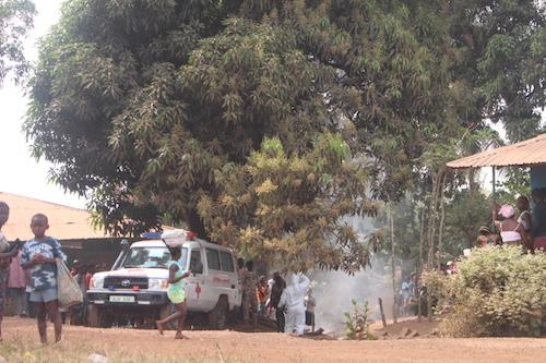 Ebola ambulance called to house in Sierra Leone
