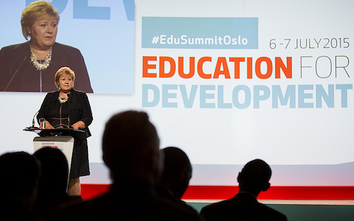 Erna Solberg announces new education funding commission at Oslo summit