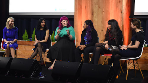 Facebook #RewritingTheCode panel discussion picture by Getty Images