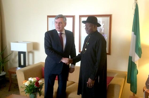 Gordon Brown and President Goodluck Jonathan