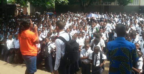 GYA Clareine N'lambi Nzeza at school in DRC