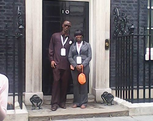GYA from Guyana Leroy Phillips with his aunt at 10 Downing Street