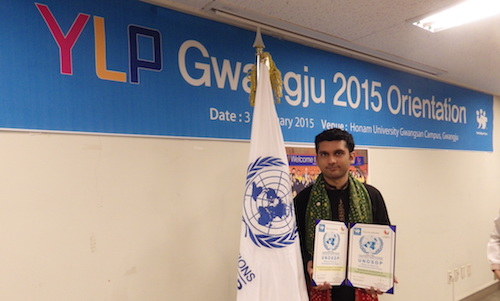 GYA from Pakistan Rana Umair Asif at sports programme in China