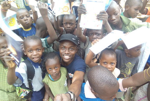 GYAs from Nigeria Omoyele Isaac Success and Atinuke Lebile with children in Ibadan Oyo state.jpg