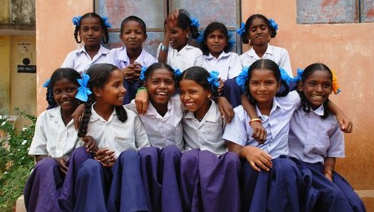 Girls in India rural school