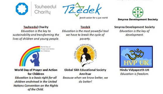 Global Faiths Coalition for Education logos