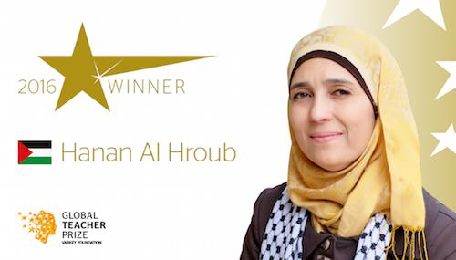 Global Teacher Prize winner 2016 Hanan Al Hroub