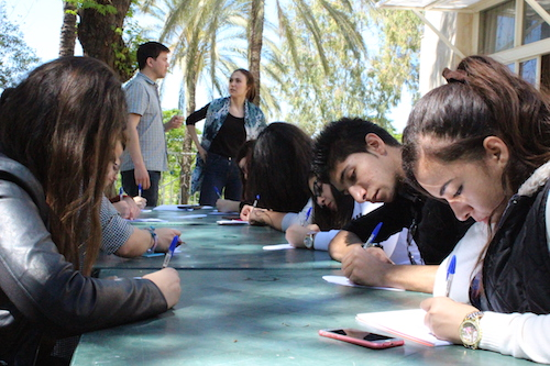 Global Youth Ambassadors from Lebanon take part in the weekend workshop  Pictures: Theirworld/Yara Harake