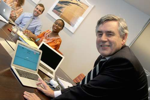 Gordon Brown signs #UpForSchool petition