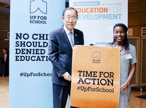 Hellen Griberg and Ban Ki-moon #UpForSchool