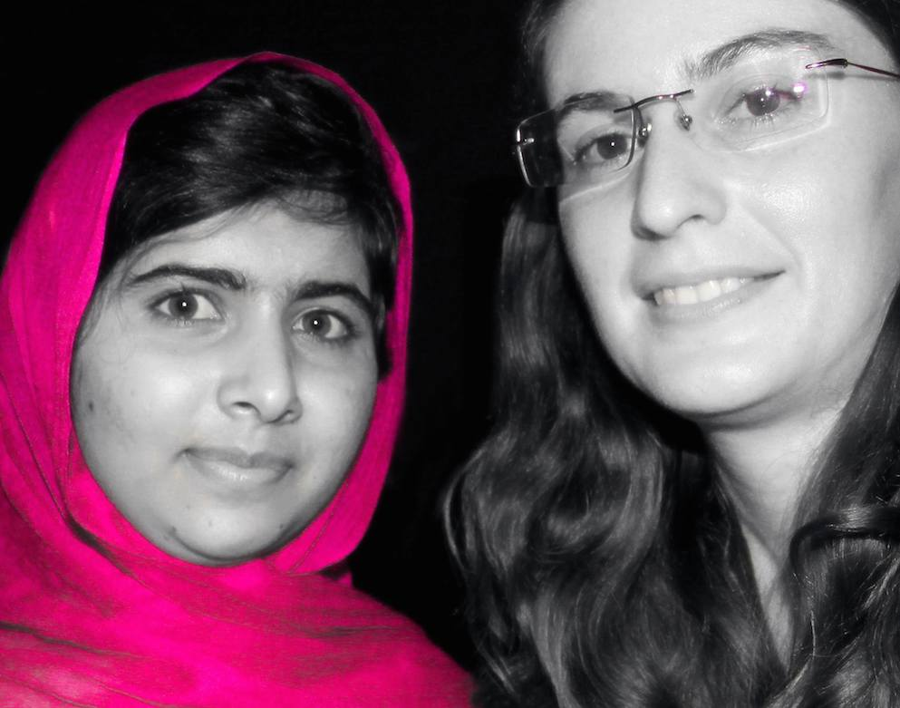 Jocelyne Jeannot with Malala Yousafzai