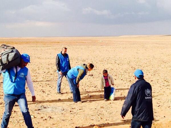 Marwan refugee boy at Jordan border