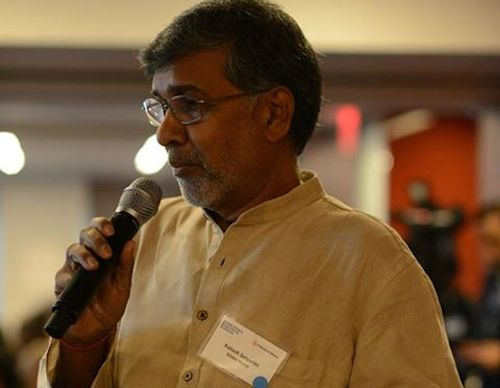 Kailash Satyarthi at A World at School forum