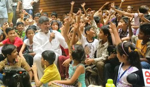 Kailash Satyarthi at event in Bal Bhavan in India